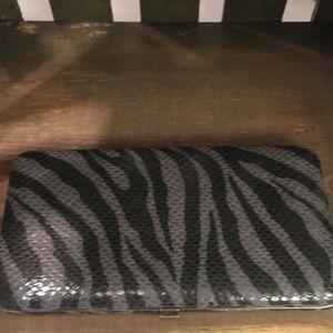 Zebra Pattern Metal Wallet